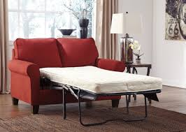 zeth crimson twin sofa sleeper from ashley 2710237 coleman