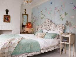 vintage bedroom ideas vintage bedroom with flower wall sticker and big