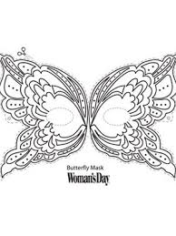 halloween crafts butterfly face mask womansday