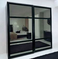 mirrored bifold closet doors without bottom track home design ideas