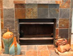 Tiled Fireplace Wall by 17 Best Slate Tile Fireplace And Cedar Walls Images On Pinterest