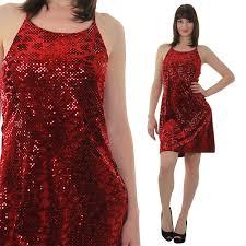 sequin mini dress vintage 90s grunge velvet dress red sequin dress par