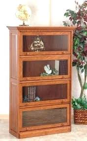 Cherry Wood Bookcase With Doors Bookcase With Sliding Glass Door Glass Front Cabinet With Sliding