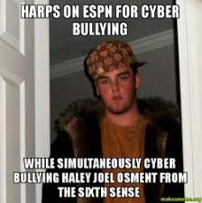 Haley Meme - harps on espn for cyber bullying while simultaneously cyber