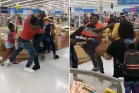 brawl breaks out at wal mart over line cutting video york post