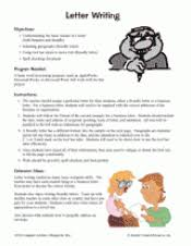 letter writing computer printable 4th 8th grade teachervision