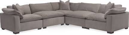 Plush Sofa Bed The Plush Sectional Collection Abbington Fog Value City