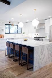 Kitchen Countertop Cabinets Best 25 Waterfall Countertop Ideas On Pinterest Kitchen Island
