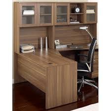 Bush Bennington L Shaped Desk Furniture Wooden L Shaped Desk With Hutch Plus Storage Ideas Plus