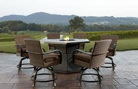 Tall Patio Set by Patio Ideas Patio Furniture Set With Fire Pit Table And Rattan