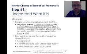 Dissertations In Education How To Choose A Theoretical Framework For My Dissertation Youtube