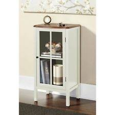 accent cabinet with glass doors cabinet accent storage furniture wood 1 door 2 shelf home glass