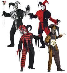 Mens Joker Halloween Costume Evil Jesters Mens Halloween Fancy Dress Scary Circus Joker Horror
