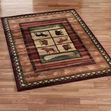Log Cabin Area Rugs Cabin Area Rugs For A Cabin Or Lodge Themed Home The