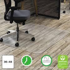 Greenguard Laminate Flooring Deflecto Clear Polycarbonate All Day Use Chair Mat For Hard Floor