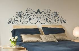 Vinyl Headboard Decal by Wall Decal Headboard For Living Room Inspiration Home Designs
