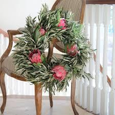 spring wreaths for front door queen protea and olive wreath spring wreath front door
