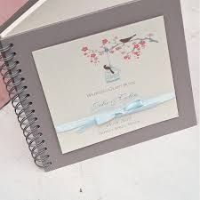 guestbook wedding birds personalised wedding guest book by beautiful day
