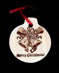 chistmas ornament burned on basswood decoration