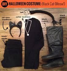 Halloween Costumes Black Cat Diy Black Cat Halloween Costume Erinwiggle