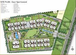 site plan design gaur sports wood sector 79 noida