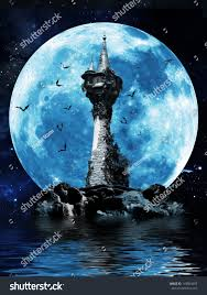 halloween background witch moon witches tower halloween image dark mysterious stock illustration
