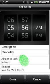 how to set alarm on android can i change alarm sound htc droid android