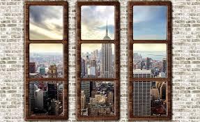 new york city skyline window view photo wallpaper mural 2832wm new york city skyline window view photo wallpaper mural 2832wm