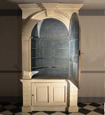 antique barrel back corner cupboard
