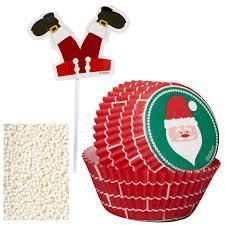 Wilton Cupcake Decorating Kit Wilton Santa Cupcake Decorating Kit With Papers Picks U0026 Sprinkles