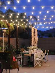 Outside Patio String Lights Prefer Not Perfectly Lines Of Lights Great Outdoor Patio
