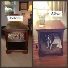 end table dog bed diy tiptoethrough diy side table as dog bed