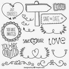 desenhadas mão enfeites de casamento wedding icon icons and