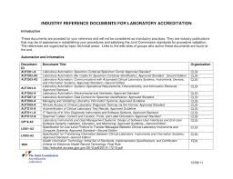 industry reference documents dec