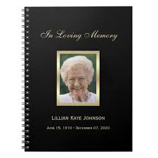 funeral guest book memorial or funeral guest book notebook zazzle