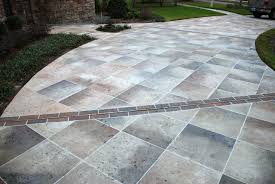 Tiling A Concrete Patio by Concrete Designs Florida Tile Driveway