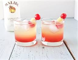 Discount Cocktail Drink Malibu Sunset Cocktail Recipe Homemade Food Junkie