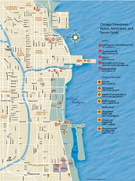 chicago map with attractions chicago downtown map