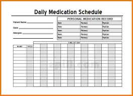 medication schedule template authorization letter pdf