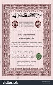 red formal warranty certificate template sophisticated stock