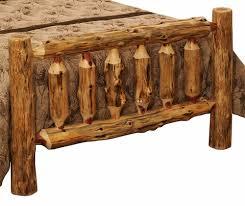Wooden Log Beds Rustic Red Cedar Log Bed