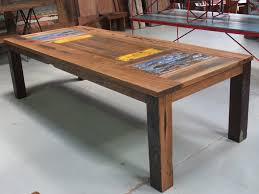 Recycled Home Decor Ideas Creative Of Reclaimed Timber Dining Table For Home Decorating
