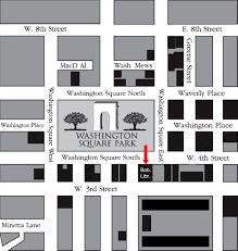 Washington Square Map by Nyu 18c Writing Women Directions