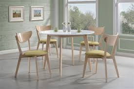Coaster Dining Room Table Appel 5 Piece Dining Set In White And Maple Two Tone Finish By