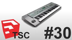 building a musical keyboard in trimble sketchup youtube