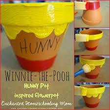 winnie the pooh flowerpot craft for kids enchanted homeschooling
