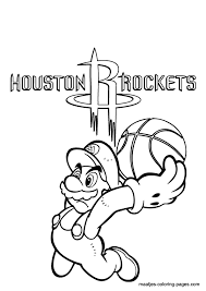 houston rockets logo coloring pages sketch coloring