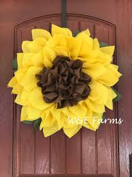 burlap sunflower wreath sunflower wreath wreath summer wreath fall wreath