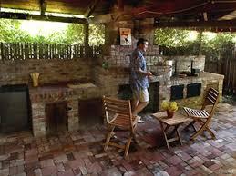 outdoor kitchen idea home design fascinating rustic outdoor kitchen ideas beige granite