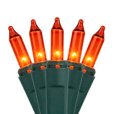 amber mini led christmas lights christmas lights 100 amber orange lights 2 5 spacing green wire